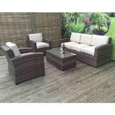 della 3 seater rattan sofa set in synthetic within designs 6
