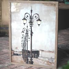 french street lamps photo lit wall art unique wall art unique wall decor