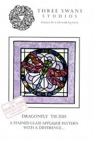 dragonfly tss 2016 a stained glass applique pattern