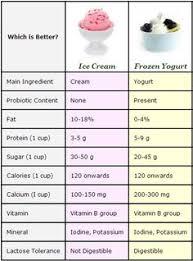 frozen yogurt vs ice cream a parison no one gave you before