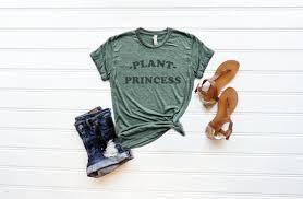Plant Princess T Shirt Super Soft Marble