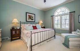 white carpet bedroom. bedroom with meditative color blue paint and white carpet