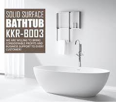 malaysia circle solid surface stone freestanding bathtub