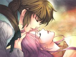 anime cartoon couple hd wallpaper
