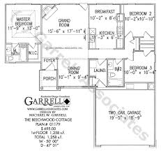 Beechwood Cottage House Plan   Active Adult House Plansbeechwood cottage house plan   st floor plan