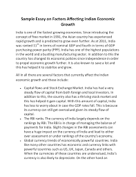 sample essay on factors affecting n economic growth
