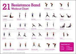 Resistance Tube Workout Chart Resistance Band Exercises For Women 254lbs 15pcs