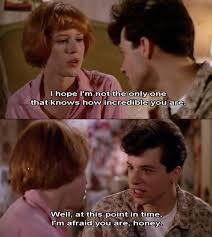 John Cryer as Duckie in Pretty In Pink 1986. My favorite character ... via Relatably.com