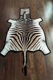 trophy felted zebra hide rug cowhide uk skin