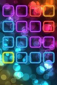 Neon Light Colors W App Holders Iphone Ipad Backgrounds
