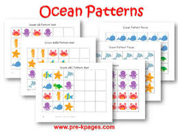 Pattern Activities For Preschoolers Enchanting Ocean Theme Activities In Preschool