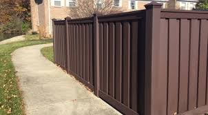 brown vinyl fence. Trex Seclusions Privacy In Woodland Brown Vinyl Fence M
