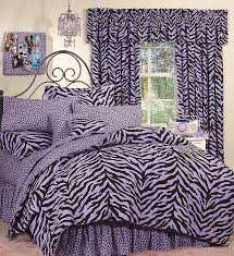 black purple zebra bed in a bag set extra long twin size