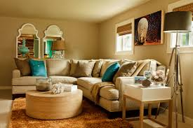 New Trends In Decorating Bold And Cheerful Living Room Decorating Interior Having L Shape