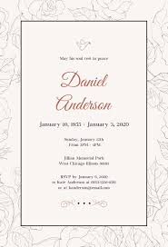 Invitation For Funeral Free Simple Funeral Invitation Template In PSD MS Word Publisher 1