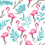 Flamingo Pattern Fascinating Pink Flamingo Fabric Wallpaper Gift Wrap Spoonflower