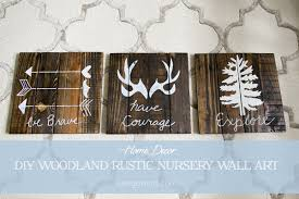 boy nursery woodland rustic wall art decor on baby boy room decor wall art with diy rustic woodland boy nursery decor
