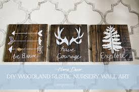 boy nursery woodland rustic wall art decor