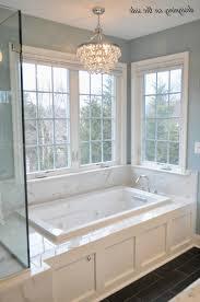 bathroom chandeliers with most cur master bath marble tile sw rain crystal chandelier