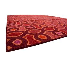 obeetee hand hooked red pink orange rug obeetee