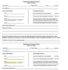 Maintenance Request Form Template Excel Maintenance Request Form Template Excel Under Fontanacountryinn Com