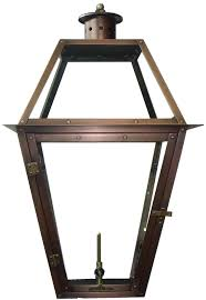 ann outdoor wall mounted lantern in natural gas configuration with valve