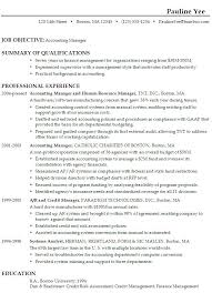 Supervisor Objective For Resume Accounting Objective Accounting Resume Objective Samples Career 89