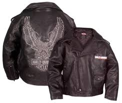 harley davidson reg boys laundered faux leather biker jacket