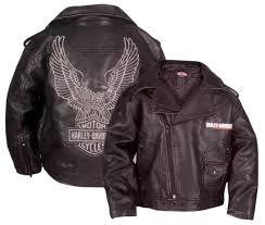 harley davidson reg boys laundered faux leather biker jacket