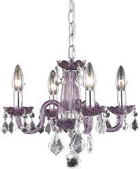 elegant v7804d15pe rc rococo purple mini chandelier light loading zoom