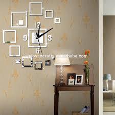 Geometrische Muster Platz 3d Acryl Uhr Spiegel Wand Dekor Dekoration