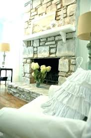 faux rock fireplace makeover how to paint a stone painting best painted ideas on fireplaces white