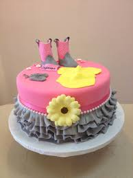 Cowgirl Cake Designs Cutest Babe Shower Cake Ever Pink And Grey Theme Cow Girl