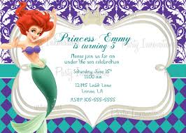 top ideas about ph birthday party favors ariel printable princess little mermaid birthday party invitation plus thank you card