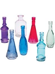 Colored Decorative Bottles Small Glass Bottles Colored Glass Bottles Bottles for Bottle Tree 2