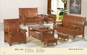 wooden sofa set good quality furniture for living room or