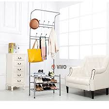 Coat Stand And Shoe Rack Vivo © Metal Coat Stand Shoe Rack Hanger Handbag Umbrella Hat Wall 78