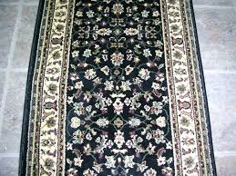 rug depot custom rug runners available hall stair runners cut to any length black inch runner rug depot