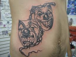 Tattoo 69 Young Man From Romania Got 2 Faces On His Stomac Flickr