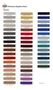 Universal Products Vinyl Color Chart Cutterpros Com