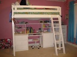 ana full size loft bed with desk underneath plans