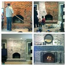 updated brick fireplaces best update fireplace ideas on painting and old red