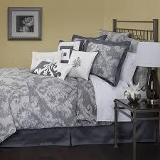 purple and grey damask bedding designs