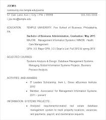 Resume Templates For Word Information Of Simple Resume Template Free