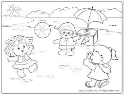 Beach Scene Coloring Pages Free Coloring Library