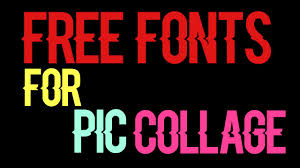 collage fonts free free fonts to download youtube