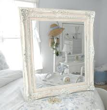 Shab Chic White Mirror Shopwiz For Large White Shabby Chic Mirror (Image 10  of 15