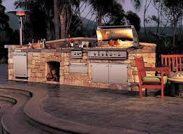 set cabinet full mini summer: cabinets and stone grill tranquil patio with summer kitchen using stone cabinets and grill also stone countertop