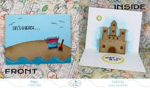 Sand Card Sand Castle Pop Up Card For Elizabeth Craft Designs