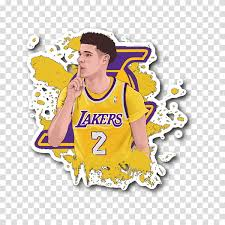 The following other wikis use this file: Basketball Los Angeles Lakers Sticker Drawing Cartoon Basketball Tshirt Lonzo Ball Lamelo Ball Transparent Background Png Clipart Hiclipart